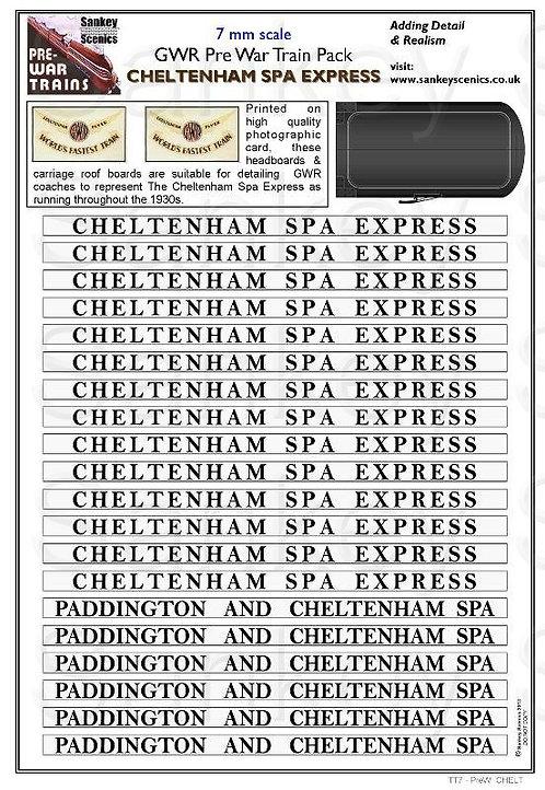 7mm Pre-war Titled Train: Cheltenham Spa Express