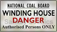 National Coal Board sign Winding House.j