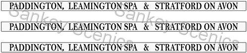 4mm GWR Destination Boards: Paddington, Leamington Spa & Stratford on Avon