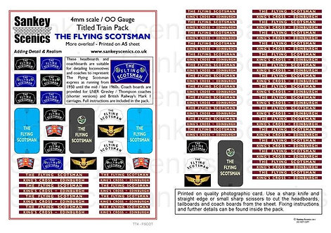 4mm Titled Train: The Flying Scotsman