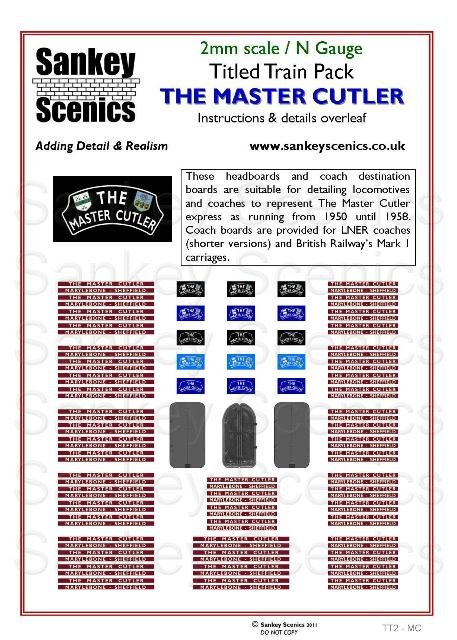 2mm Titled Train: The Master Cutler