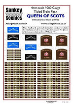 4 mm Scale Named Train Queen of Scots NE