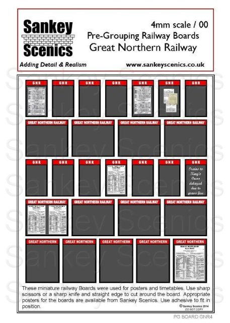 4mm Pre-Grouping Station Boards: Great Northern Railway