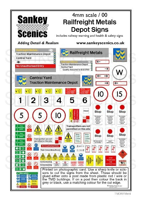 4mm TMD Signage British Rail - Railfreight Metals Sector