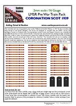 2 mm Scale Pre War Coronation Scot 1939.