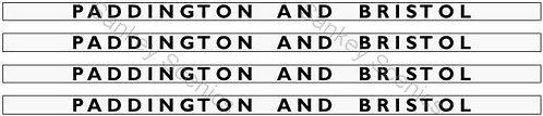 4mm GWR Hawksworth Destination Boards: Paddington and Bristol