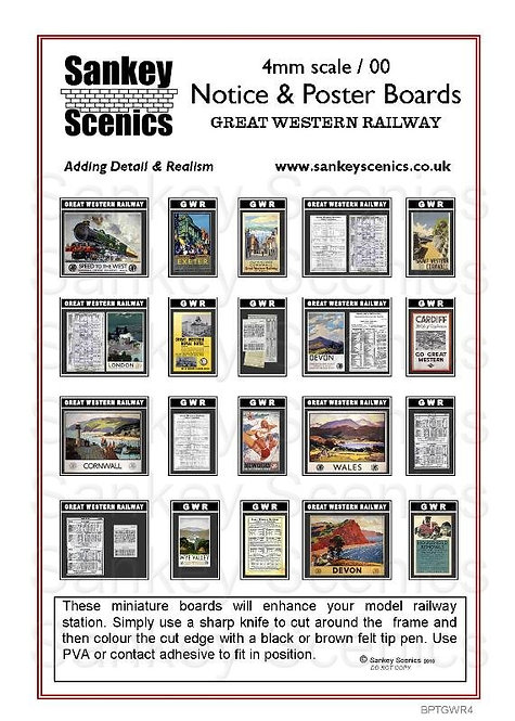 4mm Notice & Poster Boards GWR