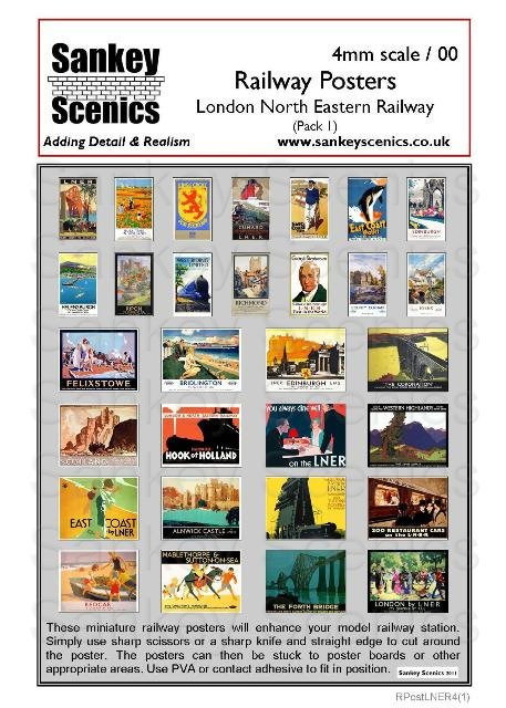 4mm LNER Posters Pack 1