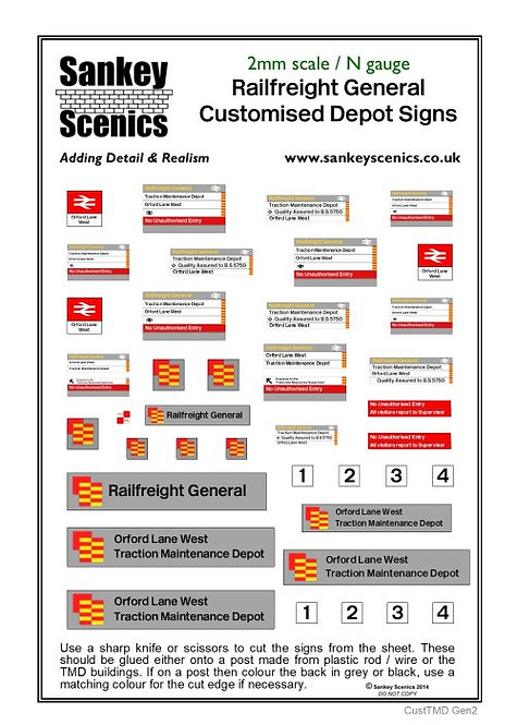 2mm Customised TMD Signage BR Railfreight General Sector Combination