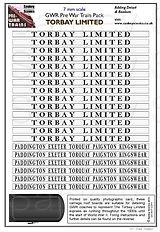 7mm GWR Pre War Titled Train Torbay Limi