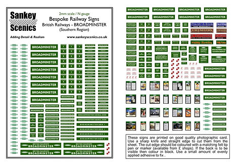 2mm A5 Customised British Railways Station: Southern Region