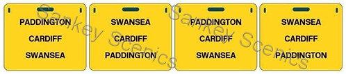 4mm WR Destination Panels: Paddington, Cardiff, Swansea