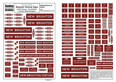 7mm A4 Customised British Railways Station: London Midland Region
