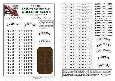 7mm Pre-war Titled Train: Queen of Scots