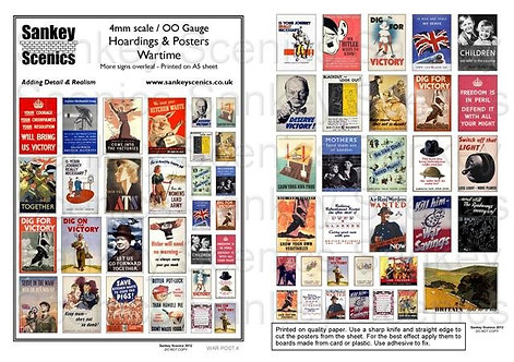 4mm World War II Posters & Hoardings