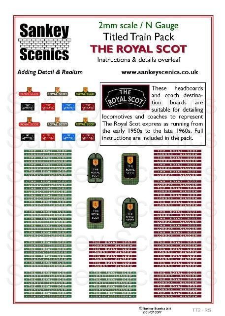 2mm Titled Train: The Royal Scot