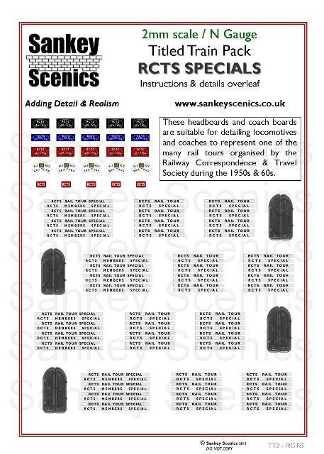 2mm Titled Train: RCTS Specials
