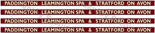 4mm BR Hawksworth Dest Boards: Paddington, Leamington Spa & Stratford-on-Avon