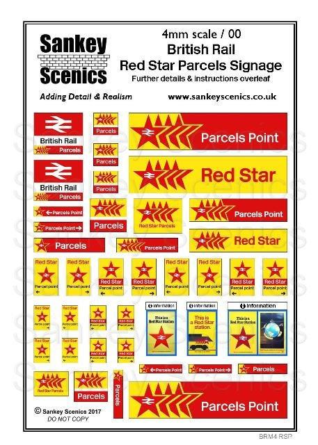 4mm Red Star Parcels Signage