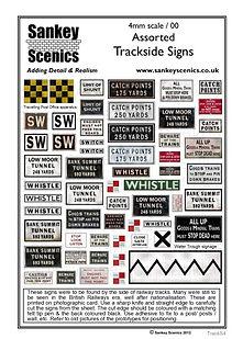 Model Railway Assorted Trackside Signs 4mm 4 OO Gauge.jpg