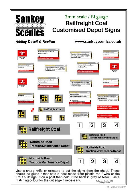 2mm Customised TMD Signage BR Railfreight Coal Sector Combination