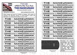 7 mm Scale Named Train Pre War The Mancu