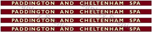 4mm BR Hawksworth Destination Boards: Paddington & Cheltenham Spa