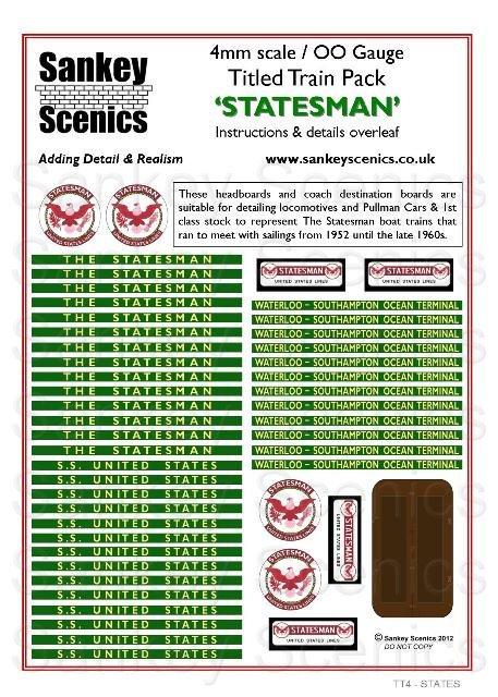 4mm Titled Train: The Statesman