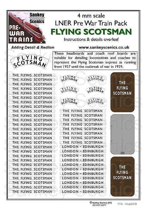 4mm Pre-war Titled Train: Flying Scotsman