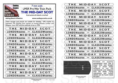 7mm Pre-war Titled Train: The Mid-Day Scot