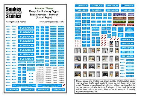 2mm A5 Customised British Railways Station: Scottish Region