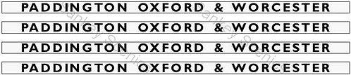 4mm GWR Hawksworth Destination Boards: Paddington, Oxford & Worcester