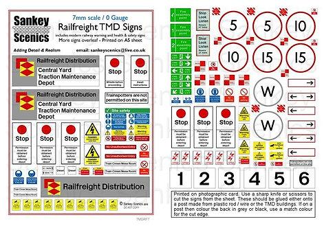 7mm TMD Signage Railfreight Distribution