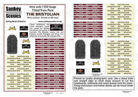 4mm Titled Train Pack: The Bristolian