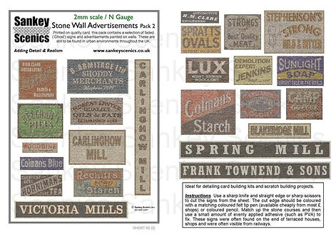 2mm Stone Wall Advertisements Pack 2