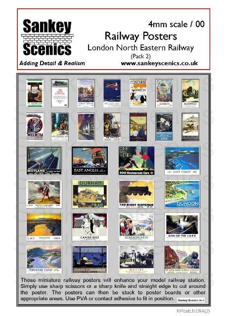 4mm LNER Posters Pack 2