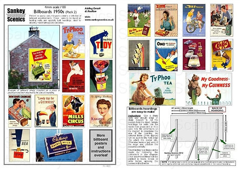 4mm Billboard Posters 1950s Pack 2