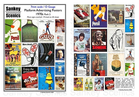7mm Platform Advertising Posters 1970s Pack 2