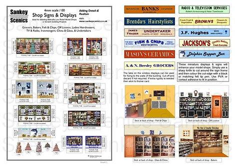 4mm Shop Signs & Displays  Pack 1