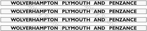 4mm GWR Hawksworth Destination Boards: Wolverhampton, Plymouth & Penzance