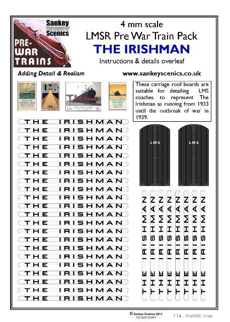 4mm Pre-war Titled Train: The Irishman