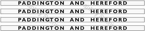 4mm GWR Hawksworth Destination Boards: Paddington & Hereford