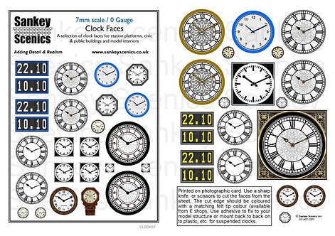 7mm Clock Faces