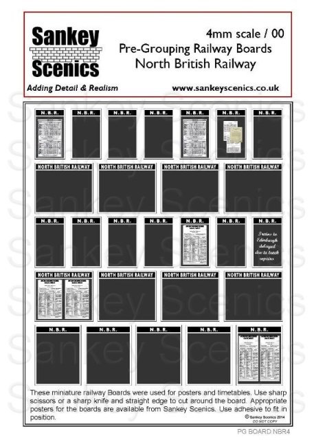 4mm Pre-Grouping Station Boards: North British Railway