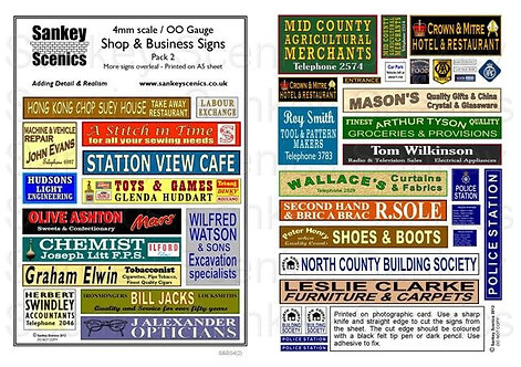 4mm Shop & Business Signs  Pack 2