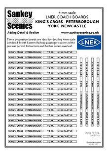 4 mm Scale LNER Kings Cross Peterborough