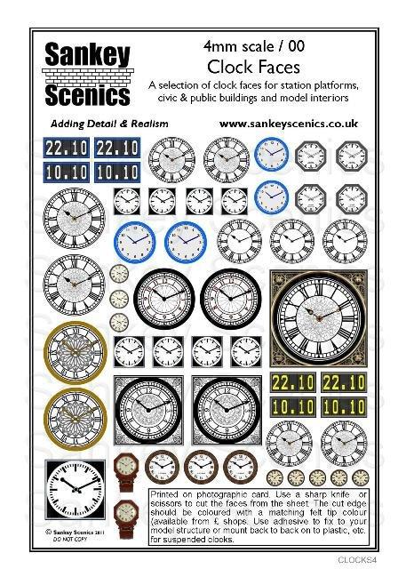 4mm Clock Faces