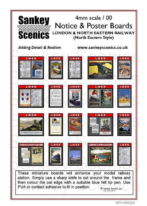 4mm Notice & Poster Boards LNER