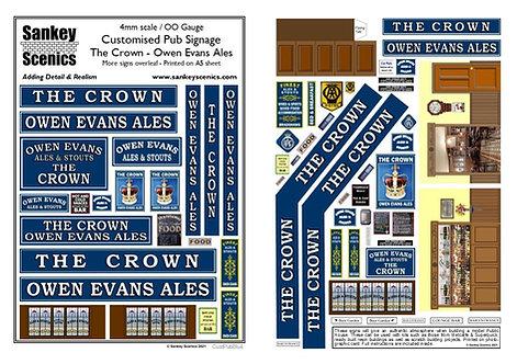 4mm Customised Pub Signs - Blue Colour Scheme