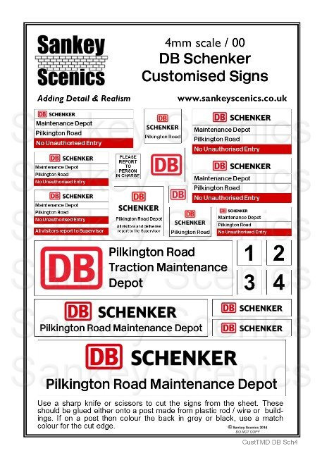 4mm Customised TMD Signage: DB Schenker